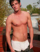 New Lad Liam - Pumped Up Straight Hunk Shooting in the Sunshine!